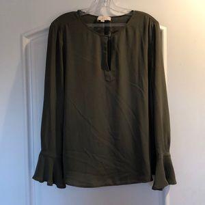 LOFT Olive green blouse